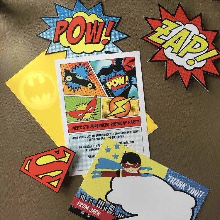 image about Printable Superhero Invitations named Printable Superhero Image Booth Props just £3.00