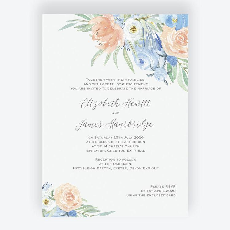 Wedding Invitations Rustic Flowers /& Lights 50 Invitations /& RSVP Cards