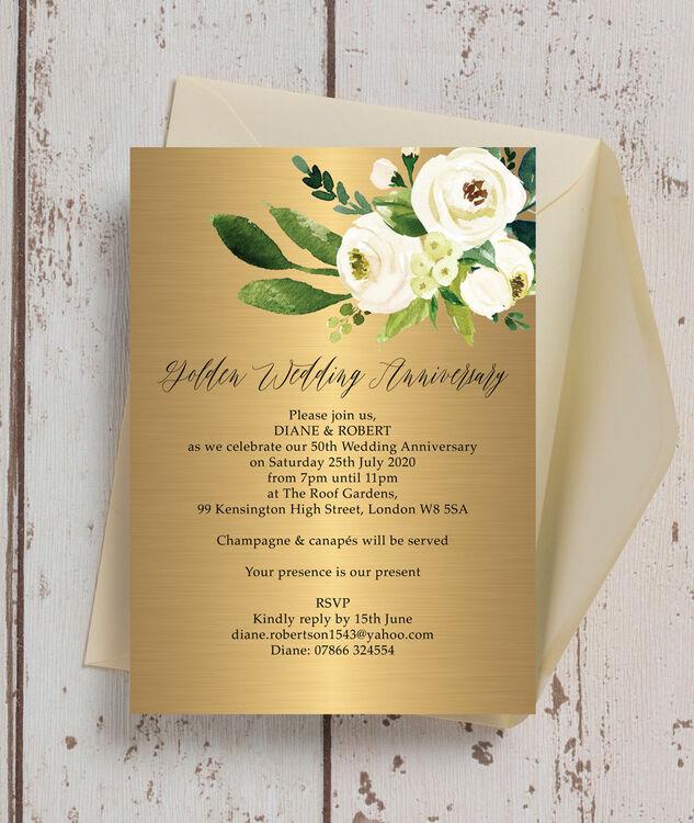 Flowers For Golden Wedding Anniversary: Gold & Cream Flowers 50th / Golden Wedding Anniversary
