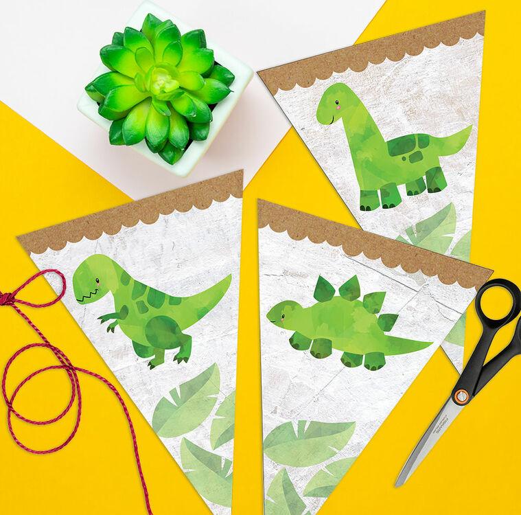 graphic about Printable Dinosaur Birthday Invitations identified as Dinosaur Printable Celebration Bunting