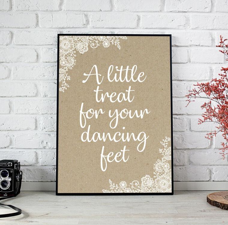 Rustic Wedding Flip Flops Sign From £4.00 Each