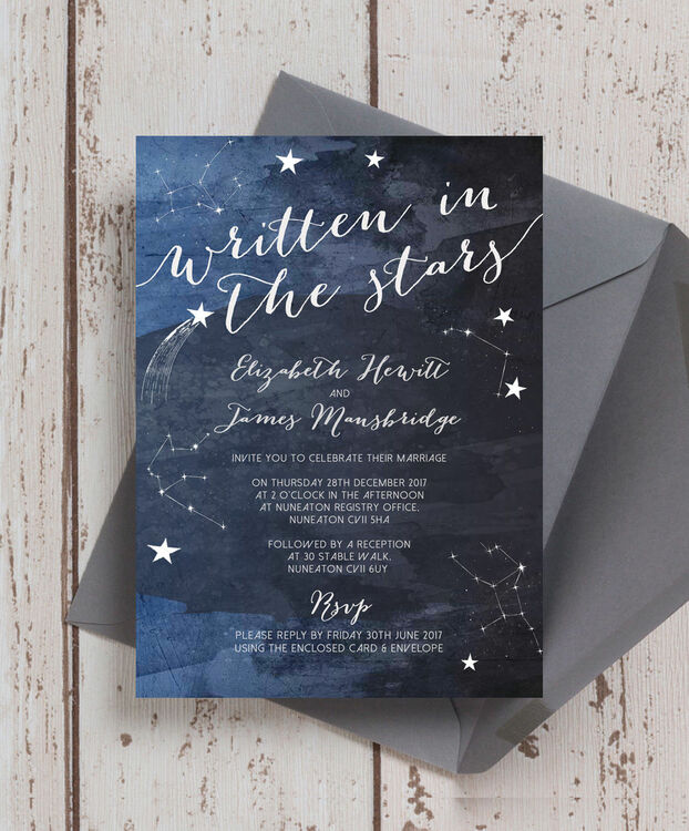 midnight stars wedding invitation from 1 00 each