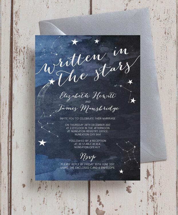 Midnight Stars Wedding Invitation from 100 each