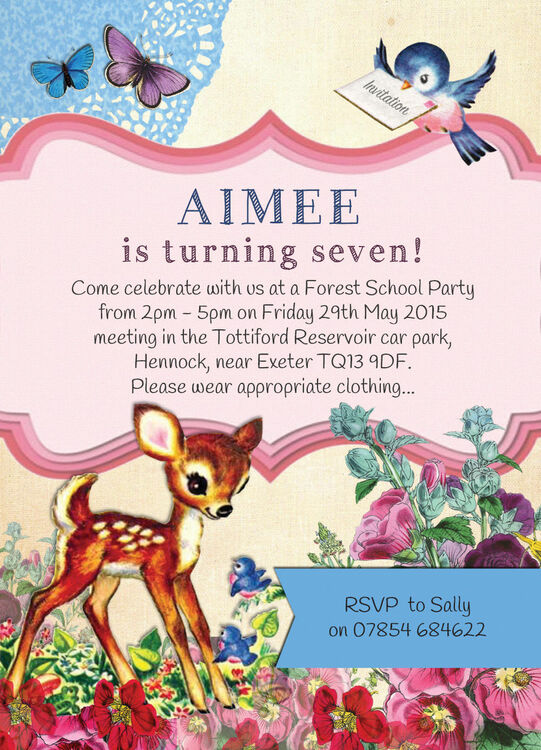 vintage deer children s party invitation from 0 80 each