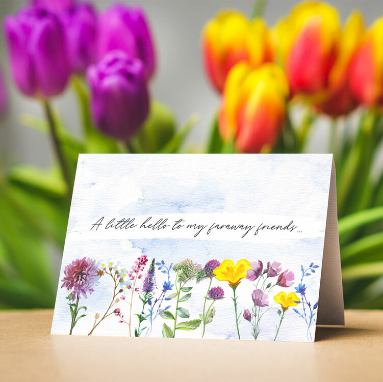 pack of 10 wild flowers note cards from £500 each