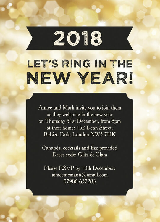 black and gold sparkle new years eve party invitation additional 1