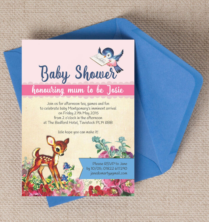 Vintage deer baby shower invitation from 080 each vintage deer baby shower invitation additional 1 filmwisefo Choice Image