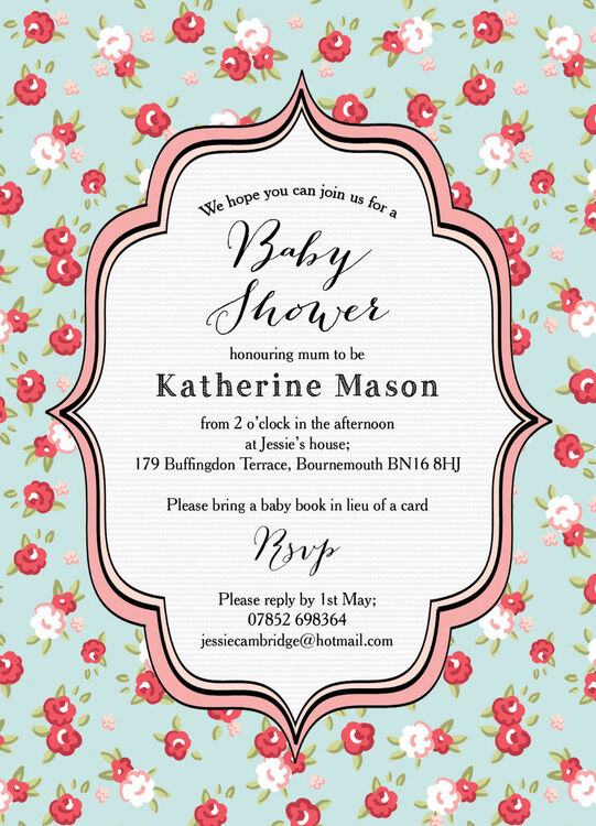 Vintage rose baby shower invitation from 080 each vintage rose baby shower invitation additional 3 filmwisefo