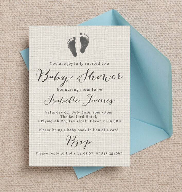 ... Rustic Calligraphy Personalised Baby Shower Invitation Additional 4 ...