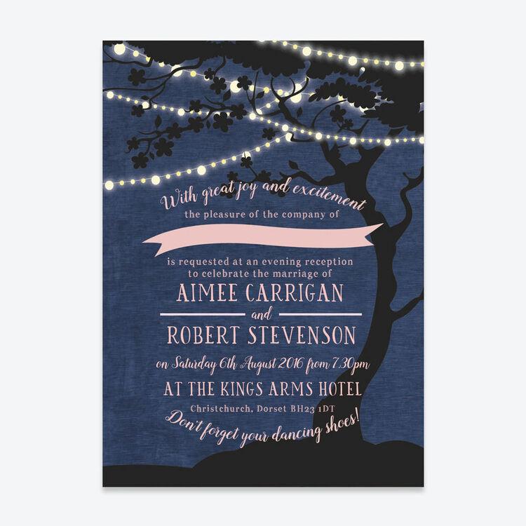Enchanted Fairy Lights Evening Reception Invitation From 163