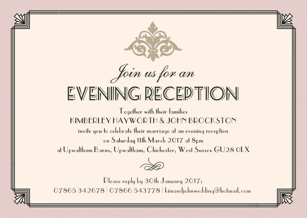 wedding invitation wording evening or afternoon - 28 images ...