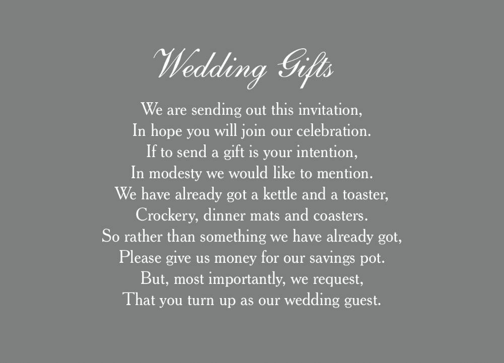 Wedding Gift Cards Online: Classic Wedding Gift Wish Card From £0.40 Each