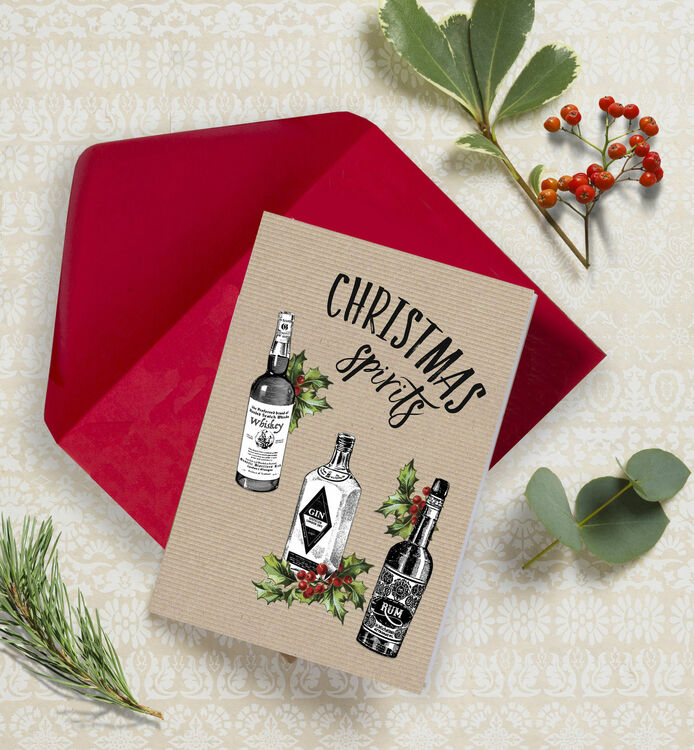 Christmas Spirits\' Non Personalised Christmas Cards - Pack of 10 ...