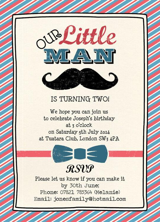 little man party invitation