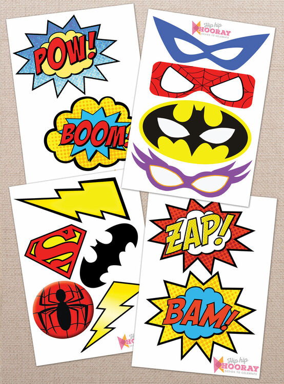 Enterprising image in free printable superhero
