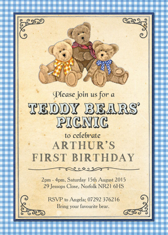 Teddy bears picnic kids party invitation teddy bears picnic kids party invitation additional 4 filmwisefo