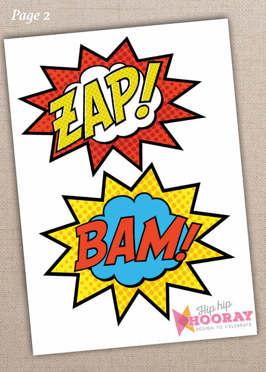 photo about Free Printable Superhero Photo Booth Props known as Printable Superhero Picture Booth Props merely £3.00