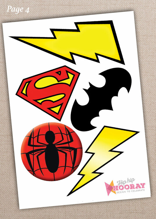 graphic regarding Free Printable Superhero Photo Booth Props titled Printable Superhero Picture Booth Props merely £3.00