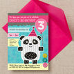 Panda Party Birthday Party Invitation additional 4