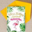 Flamingo Fiesta Tropical Wedding Invitation additional 4
