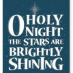 O Holy Night Typography Christmas Card additional 2
