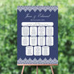Navy Blue & White Vintage Style Wedding Seating Plan additional 1