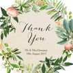 Flora Wreath Personalised Thank You Card additional 3