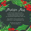 Hand Painted Leaves & Berries Christmas Party Invitation additional 2