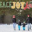 Peace Joy Love Photo Christmas Card additional 2