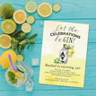 Gin & Tonic Themed 40th Birthday Party Invitation additional 2