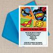 Comic Book Superhero Party Invitation additional 2