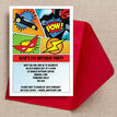 Comic Book Superhero Party Invitation additional 3