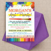 Art & Craft Themed Birthday Party Invitation additional 2