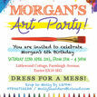 Art & Craft Themed Birthday Party Invitation additional 3