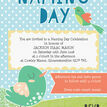 Cute Birds Naming Day Ceremony Invitation - Blue additional 3