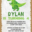 Dinosaur Birthday Party Invitation additional 4