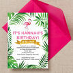 Flamingo Fiesta Birthday Party Invitation additional 2