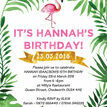 Flamingo Fiesta Birthday Party Invitation additional 3