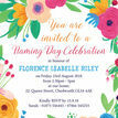 Floral Fiesta Naming Ceremony Day Invitation additional 3