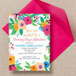Floral Fiesta Naming Ceremony Day Invitation additional 2