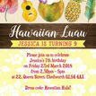 Hawaiian Hula / Luau Birthday Party Invitation additional 3