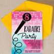 Karaoke Themed Birthday Party Invitation additional 2