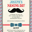 Little Man Naming Day Ceremony Invitation additional 3