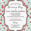 Vintage Rose Naming Ceremony Day Invitation additional 3