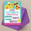 Emoji Themed Birthday Party Invitation additional 2