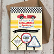 Racing Cars Personalised Birthday Party Invitation additional 3