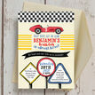 Racing Cars Personalised Birthday Party Invitation additional 2