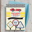 Racing Cars Personalised Birthday Party Invitation additional 4