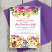 Flower Crown Animals Naming Day Ceremony Invitation additional 4