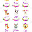Flower Crown Animals Name Cards - Set of 9 additional 2